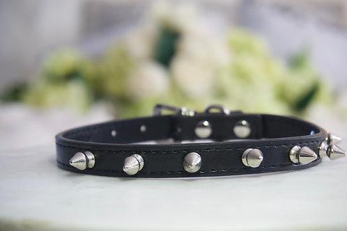 Luxury Black Spike Vegan Pet Collar