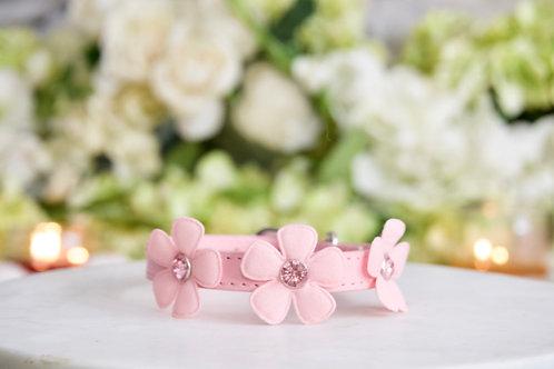 NEW! Luxury Fairy Flower Pink Rhinestone Pet Collar Vegan