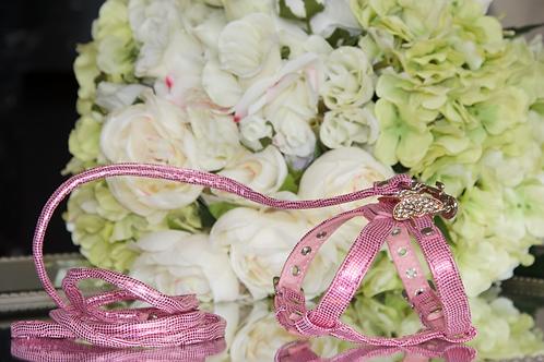 Luxury Pet Harness + Leash Set Princess Pink
