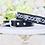 Thumbnail: NEW! Crystal Jaguar Black Collar and Leash Set