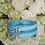 Thumbnail: Luxury 2 Piece Set Triple Spike Tiffany Blue Pet Collar & Leash Set