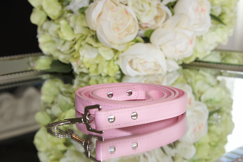 Luxury Leash Princess Aurora Pink Vegan Leather