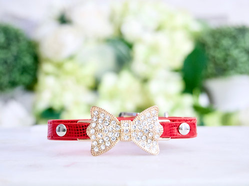 Luxury Ferrari Red Pet Collar