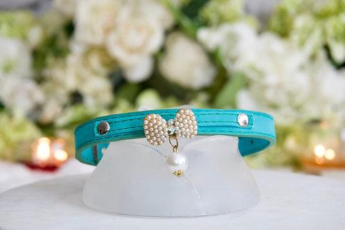 NEW! Luxury Mermaid Green Pearl Pet Collar Vegan