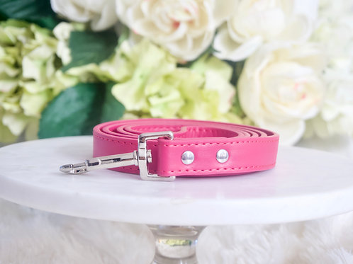 NEW! Luxury Leash Magenta Hot Pink Vegan Leather