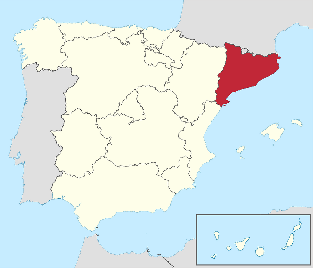 At this point, you may be asking, where's Catalonia? I thought this was a blog post about current, not another excuse for David to wallow in ancient history. Here are the modern borders of Catalonia.CC, 1184px-Cataluna_in_Spain_(plus_Canarias).svg.png