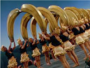 From the Miranda video, women with large banana props