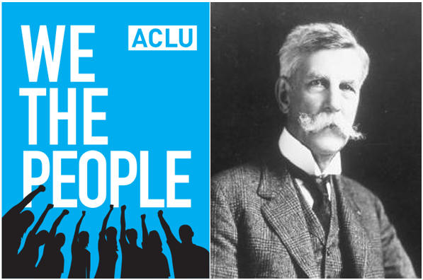A Poster for the ACLU and Justice Oliver Wendell Holmes Jr
