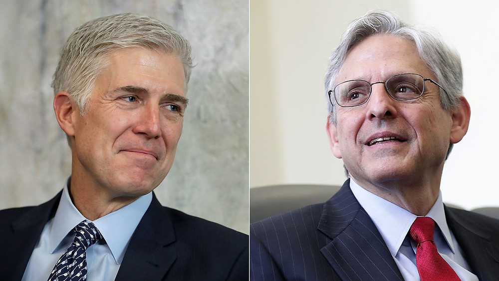 Neil Gorsuch (left), Trump's Supreme Court nominee and newest justice, and Merrick Garland, Obama's nominee for the vacant seat.