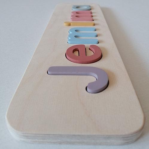 wooden name puzzle medium pastel