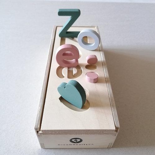 wooden dream box small pastel