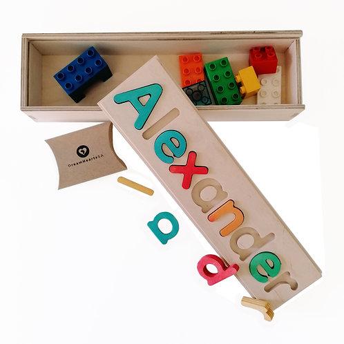 wooden dream box large rainbow