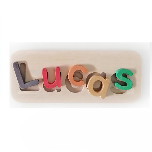 wooden name puzzle small rainbow