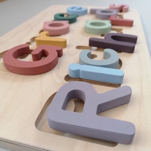wooden name puzzle xx-large pastel