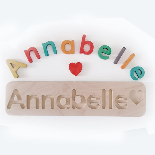 wooden name puzzle x-large rainbow