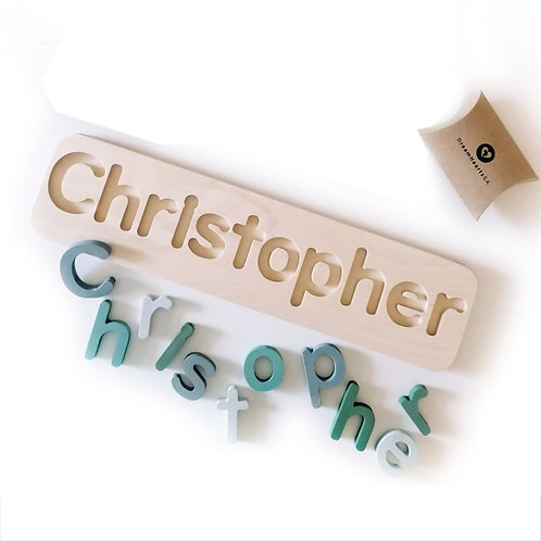 wooden name puzzle x-large pastel