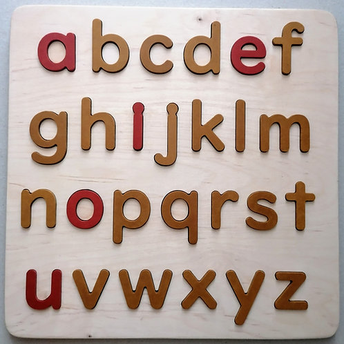 educational wooden alphabet puzzle yellow-red