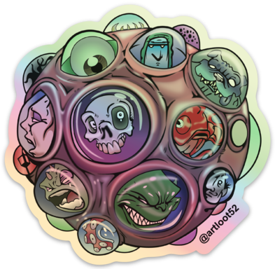 """Brain Cell"" Hologram Sticker"