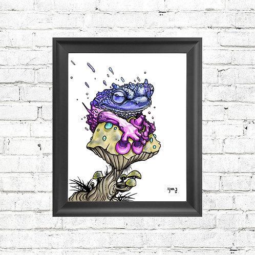 """Psychoactive Frog"" Print"