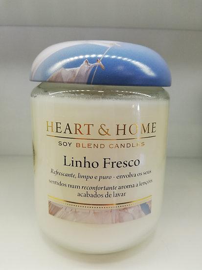 Vela Heart & Home Linho Fresco