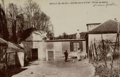 Entrée de la forêt - Porte de Bailly