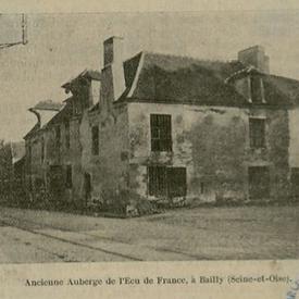 Ancienne Auberge de l'Ecu de France, à Bailly