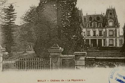"""Château de """"La Pépinière"""" à Bailly"""
