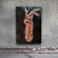 Yoga Condo, oil on panel, 55 X 55 in