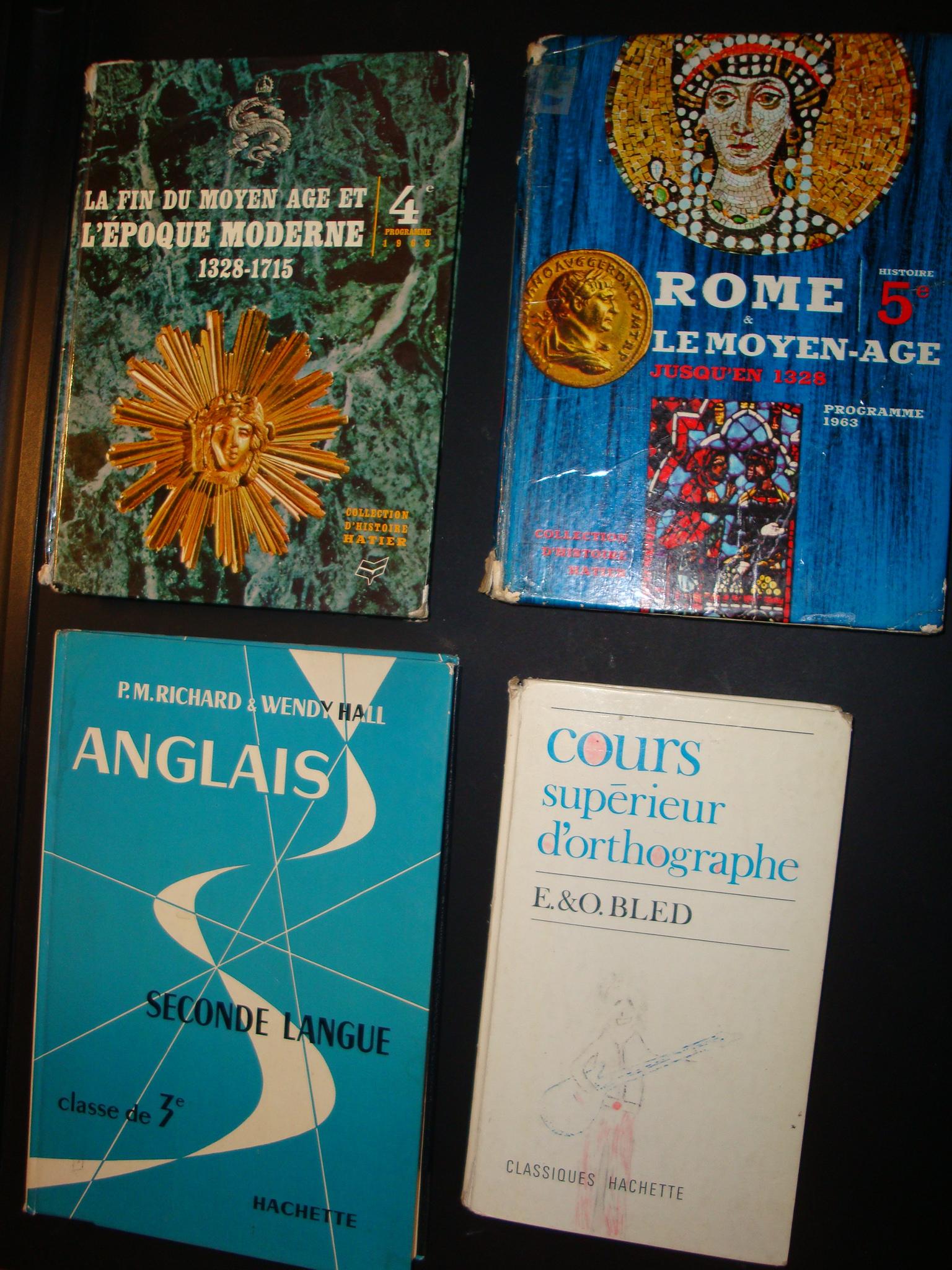 Livres scolaires divers