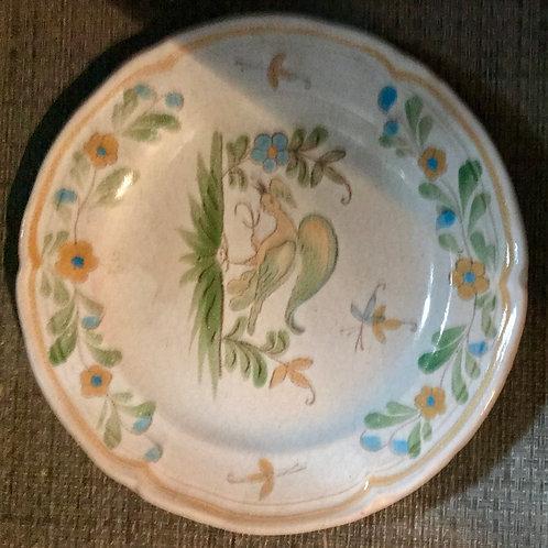 Assiette décorative peint main