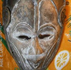Masque ancien patiné