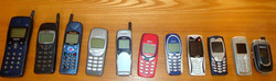 Collection de téléphones portables