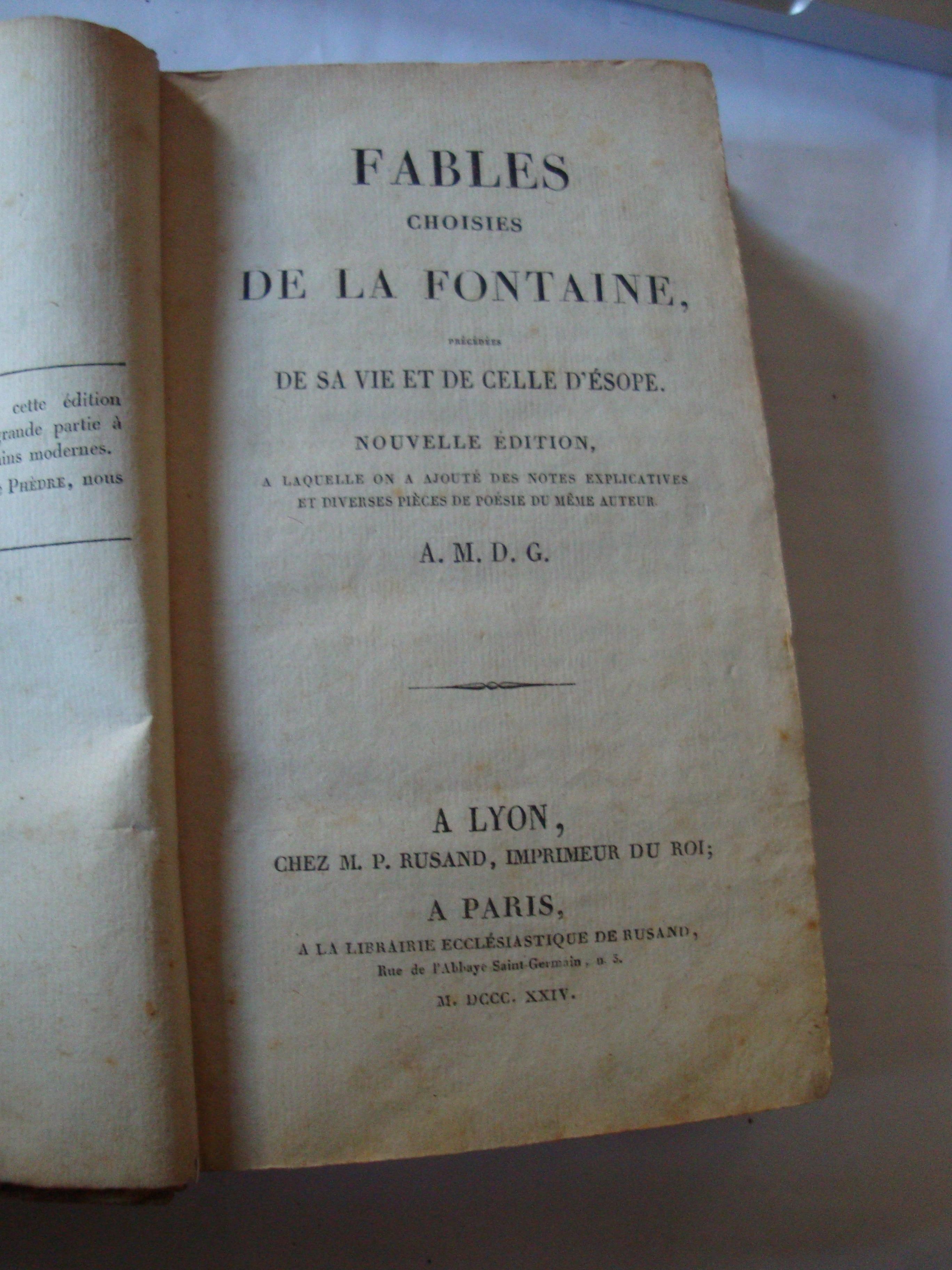 Livre Fable La Fontaine