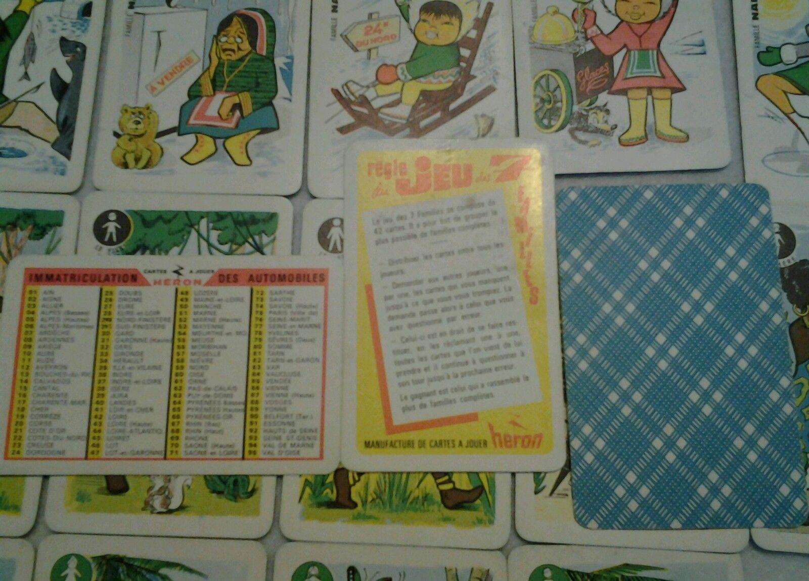 jeu de carte des 7 familiies