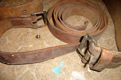 Cinturon en cuir