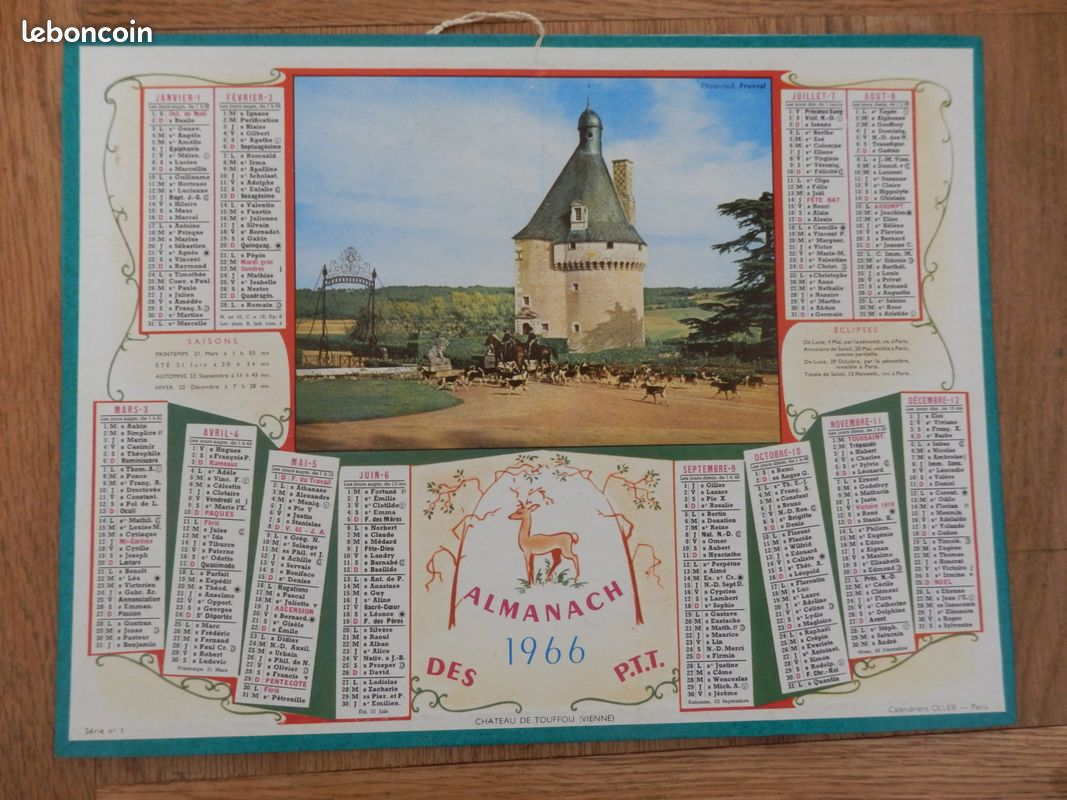 Calendrier Almanach des Postes