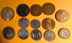 Lot de pièces de Francs 1980 à 199à
