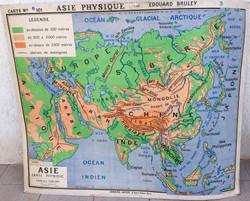 Carte scolaire Asie physique