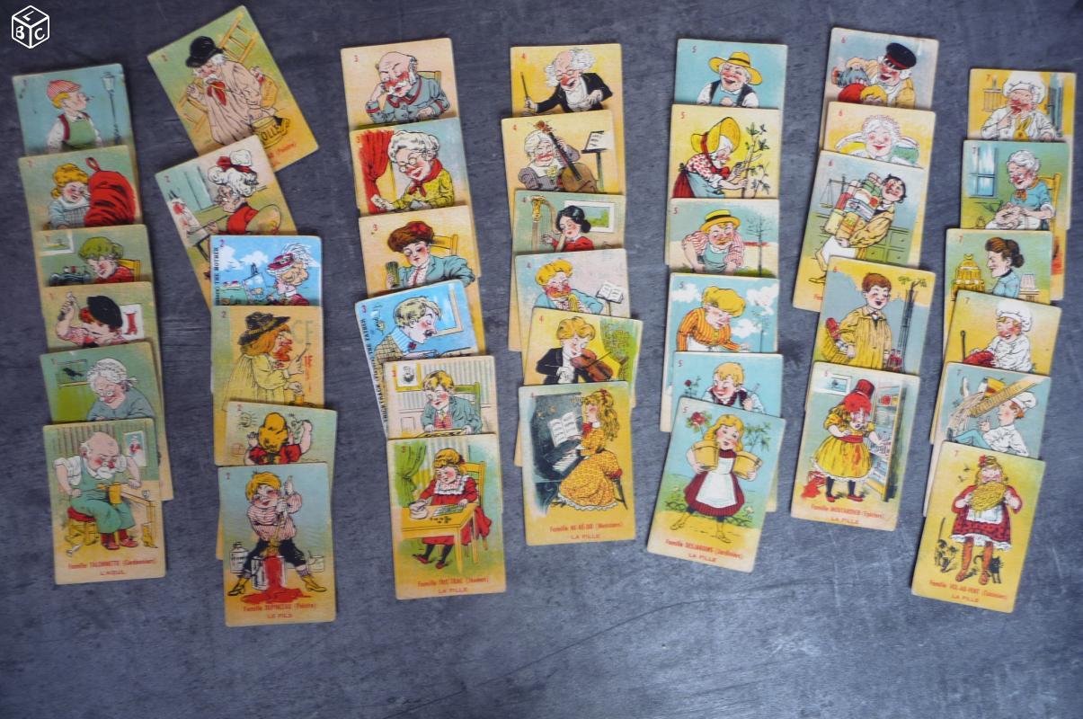 jeu de carte des 7 familles