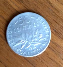 Pièce de 50 centimes 1916