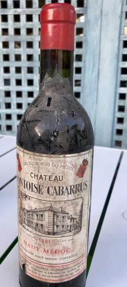 Vin haut médoc 1961