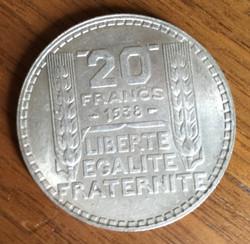 Pièce de 20 Francs argent