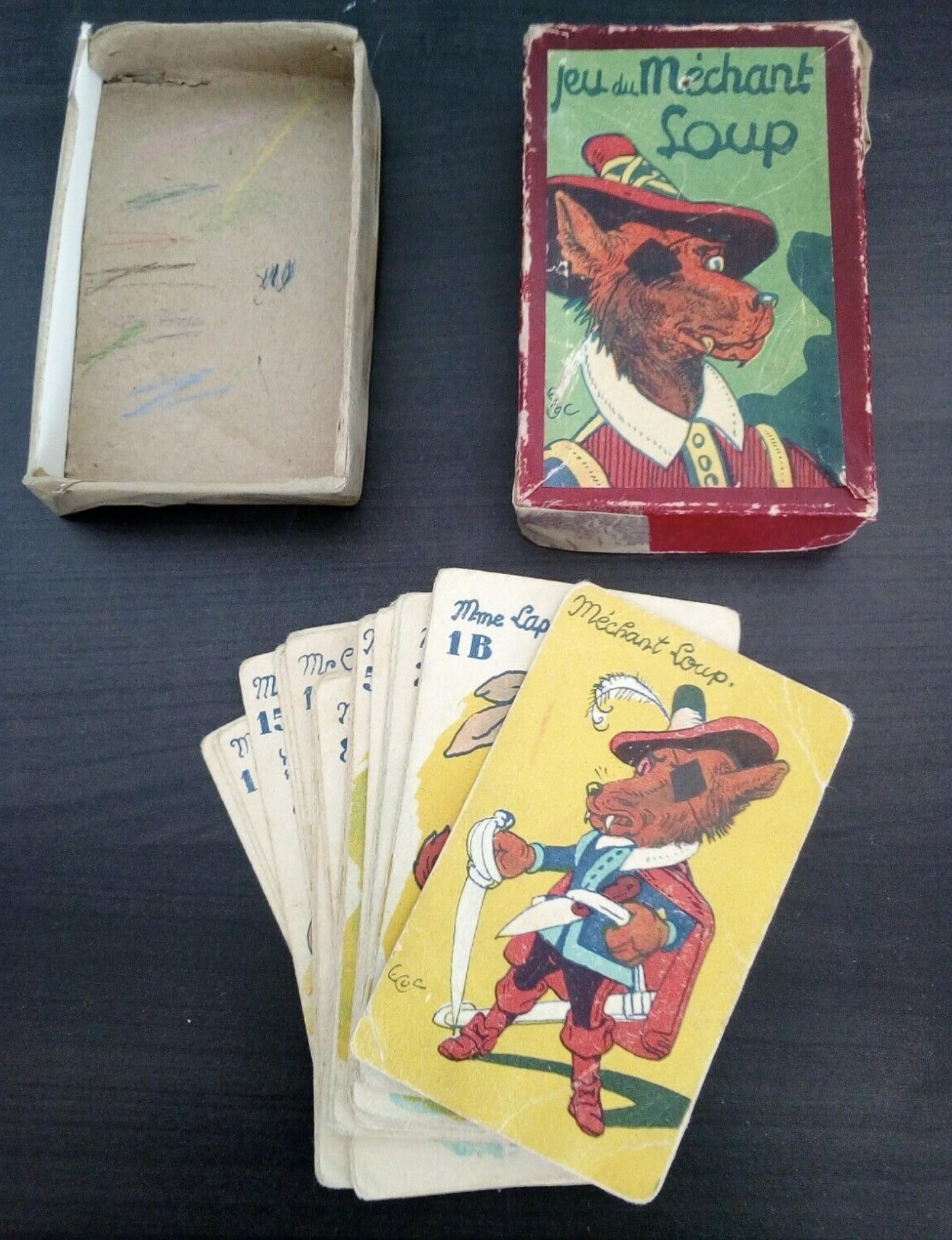 Jeu de cartes du méchant loup