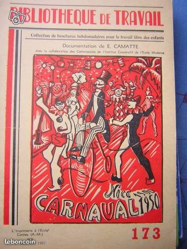 Livre carnaval de Nice