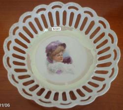 Plat corbeille porcelaine
