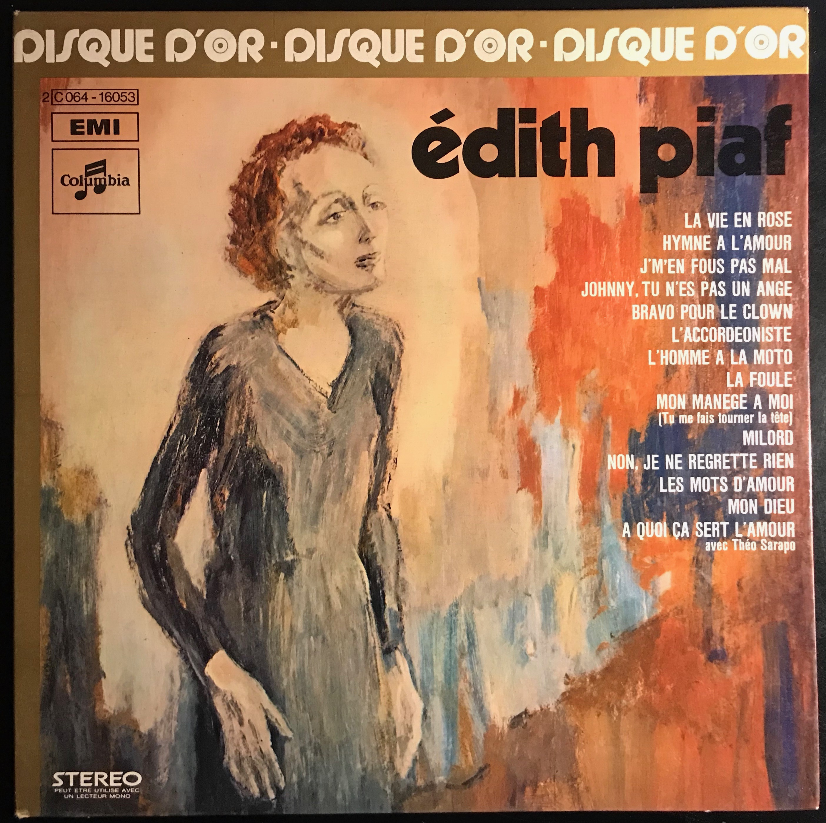Disque vynile Edith Piaf
