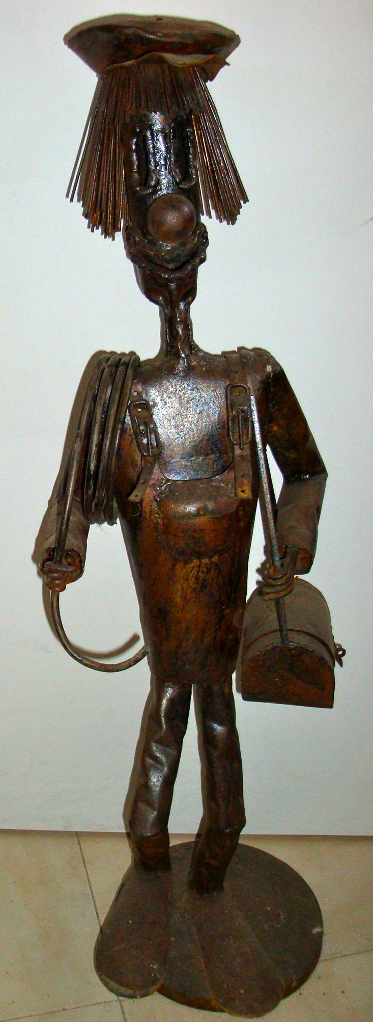 Sculpture métal plombier
