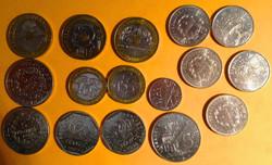 Lot de pièce Francs de 1990 à 1999