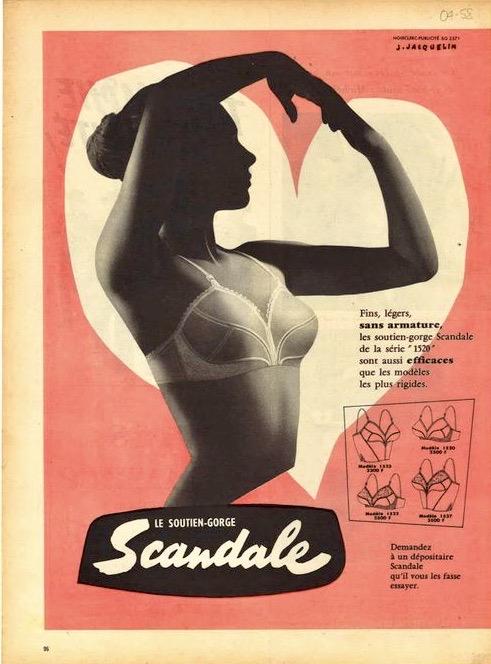 """Page publicitaire """"Scandale"""""""