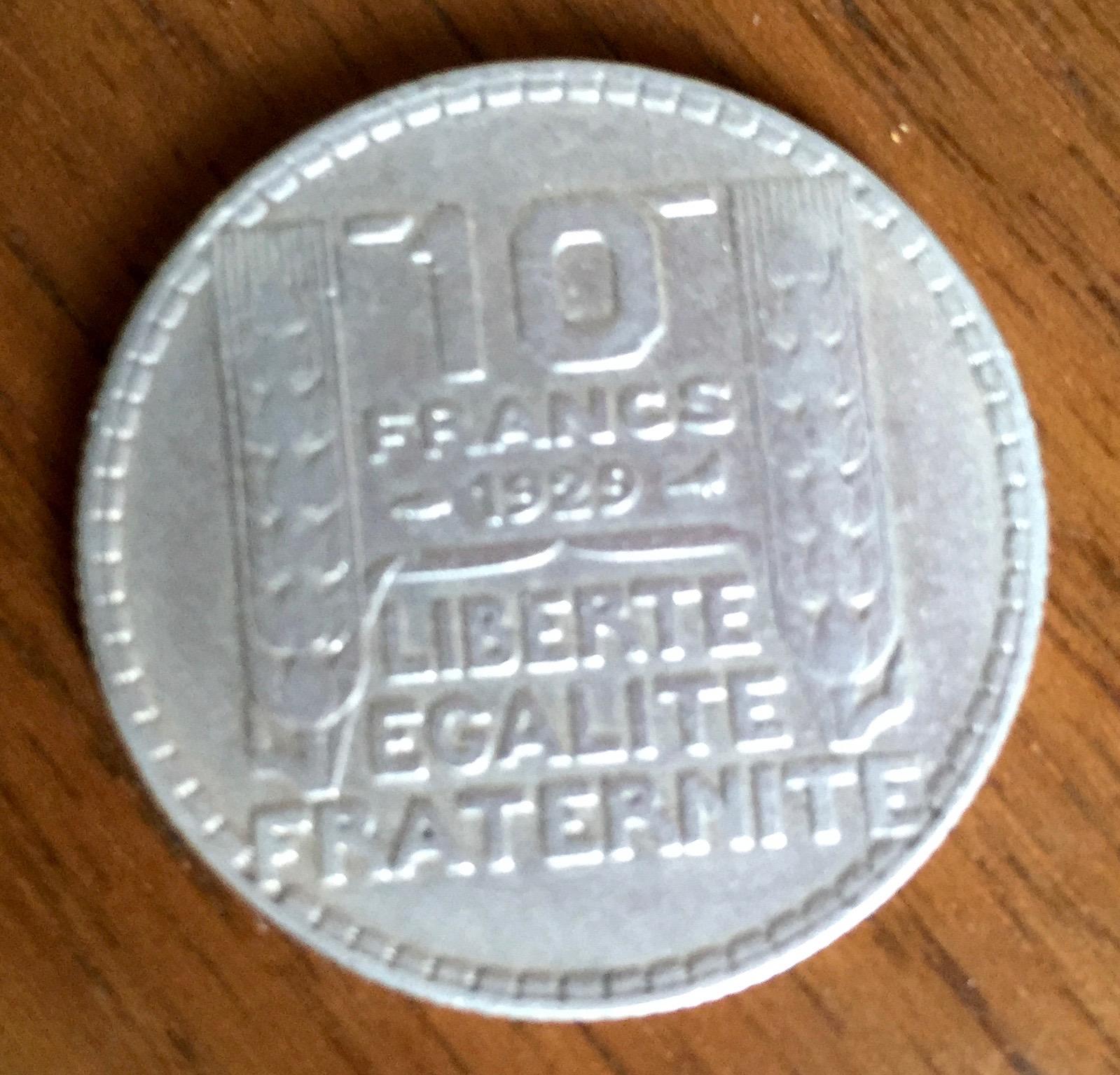Lot de pièce de 10 Francs argent